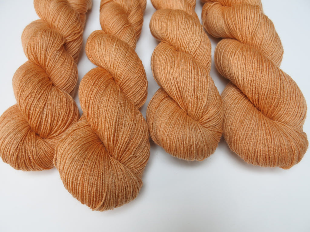 hand dyed yarn inspired by scottish tablet