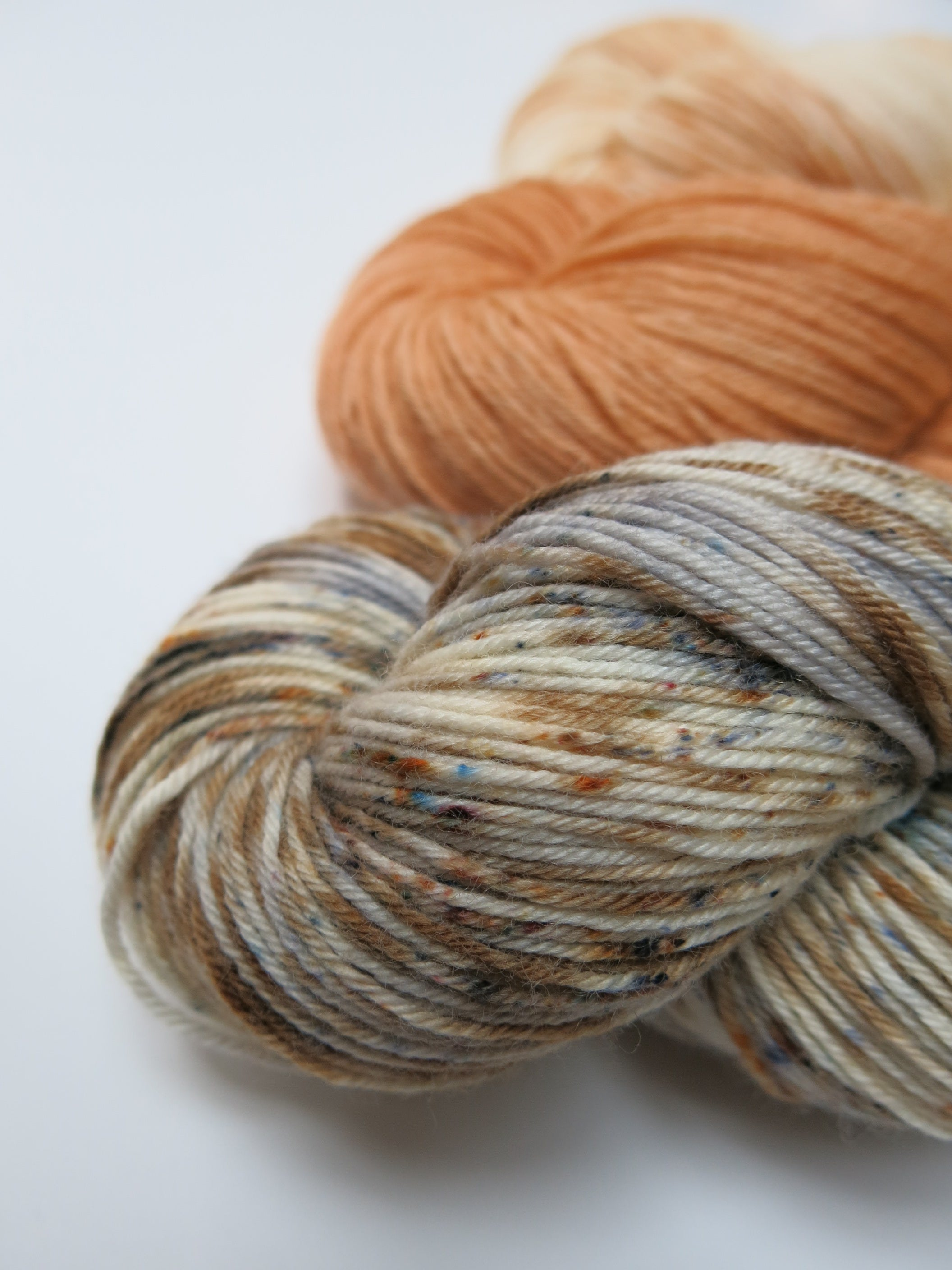 hand dyed superwash merino speckled sock three skein fade kit