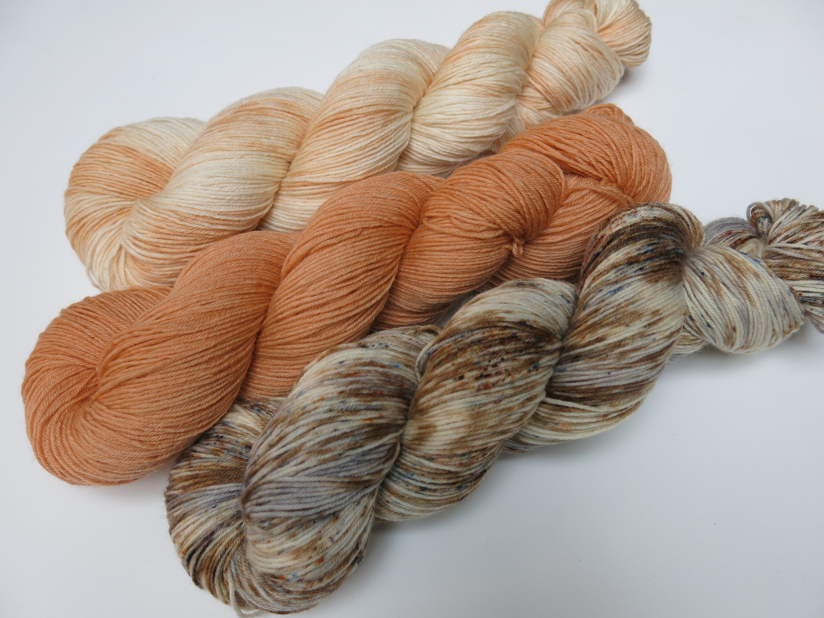 indie dyed superwash merino sock three skein fade kit