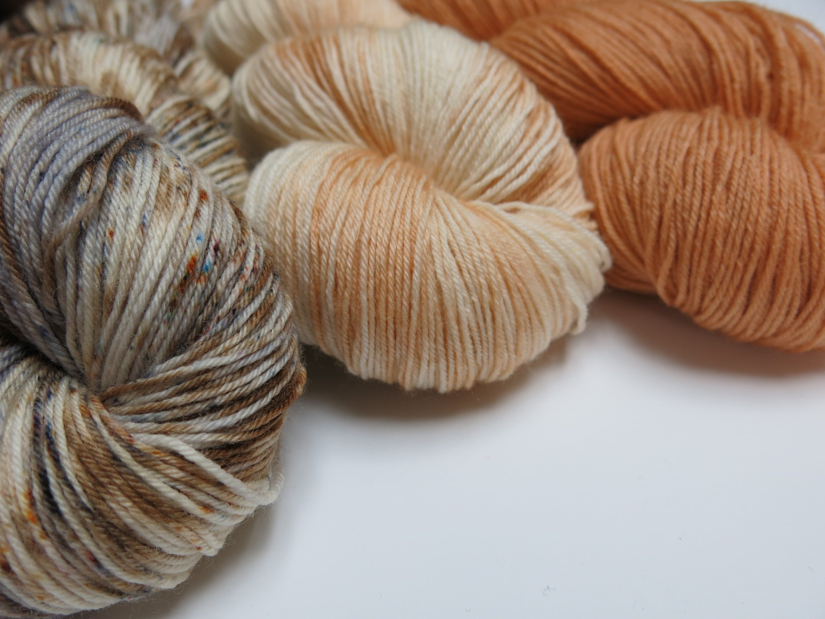 indie dyed superwash merino sock three skein fade set