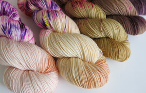 five skein fade for shawl or sweater knitting patterns