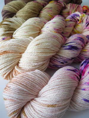 hand dyed flesh toned merino wool