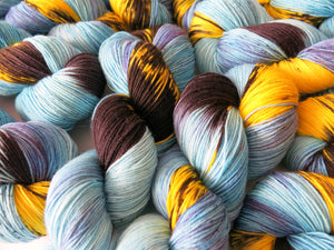 hand dyed sock yarn for knitting and crochet