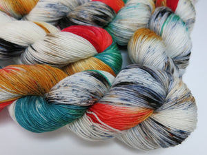indie dyed merino sock yarn inspired by dia de los muertos