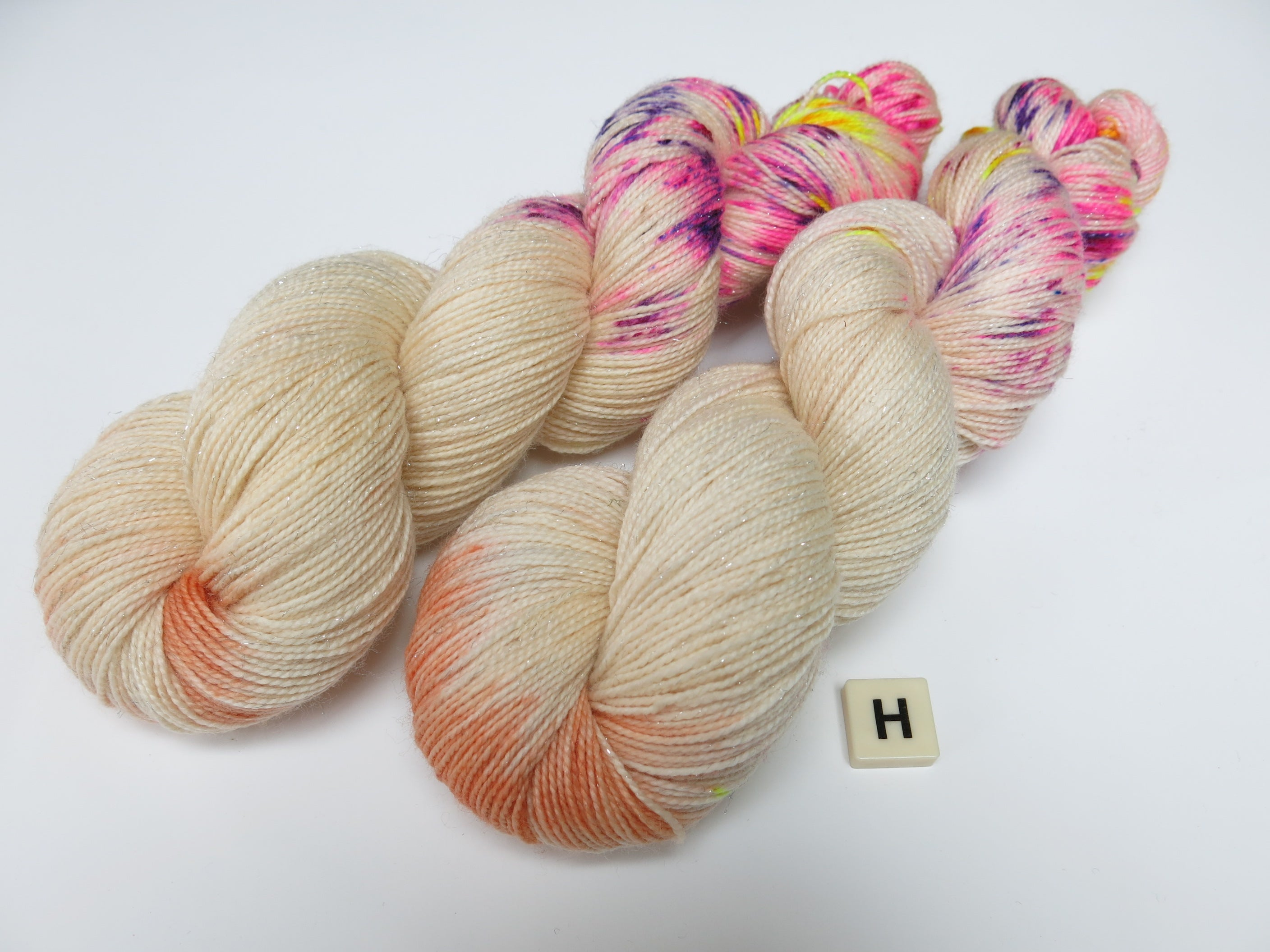 indie dyed mamas magic milk machines on choufunga sock yarn