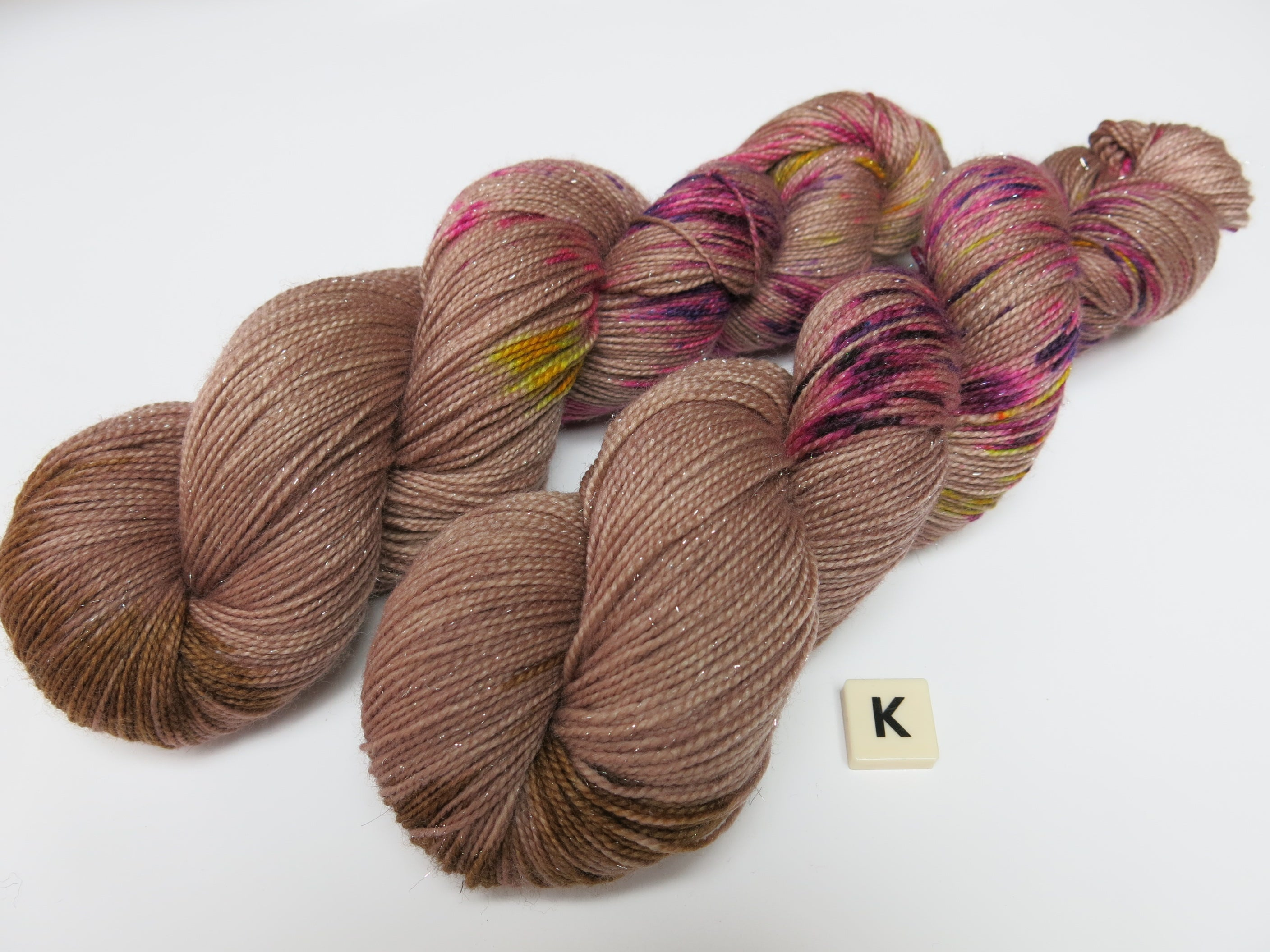hand dyed yarn from my mama knits in scotland
