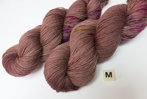 indie dyed yarn for the tits out collective brown and speckled