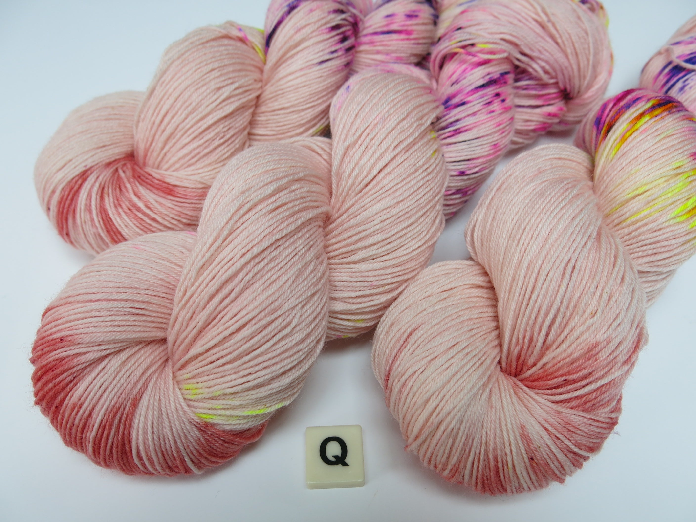 pastel and neon indie dyed superwash sock yarn