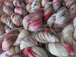 indie dyed speckled yarn with a scottish theme