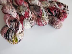 100g halloween vampire sock yarn skeins