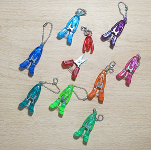 puppy yarn snips in rainbow colours