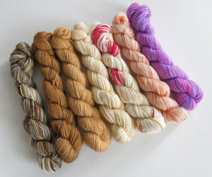 indie dyed yarn set inspired by scottish foods