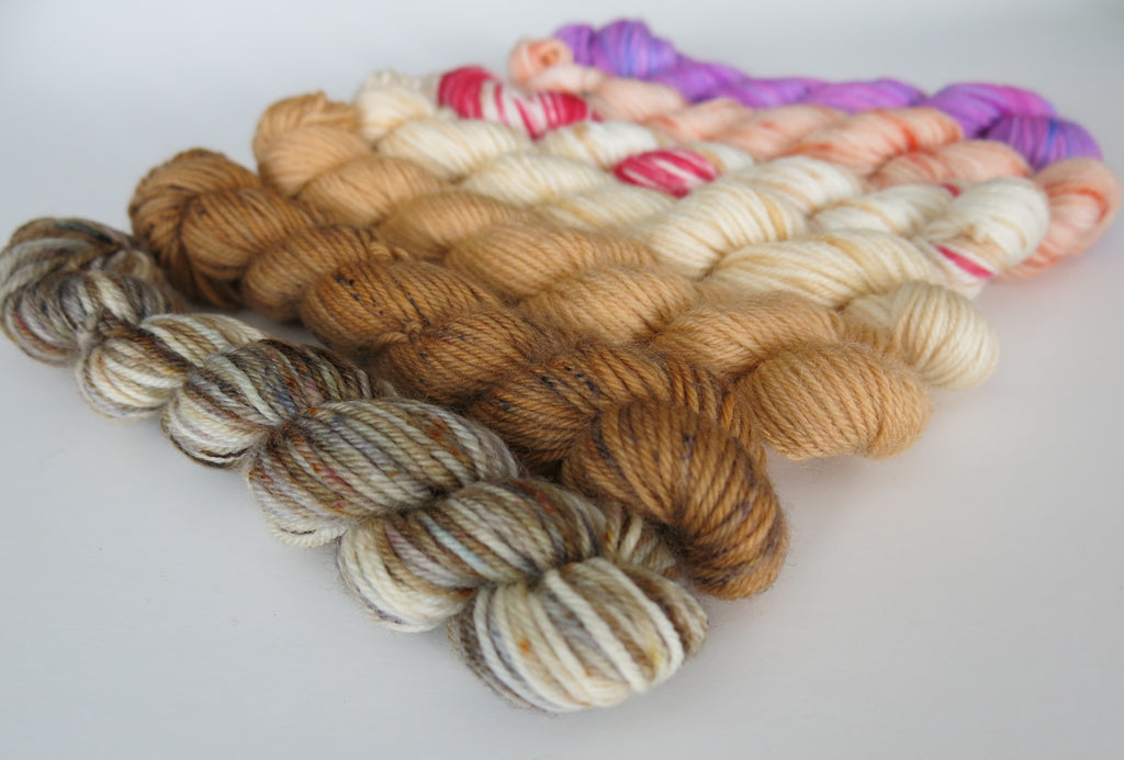 yummy scotland mini skein set with tablet, haggis and cranachan