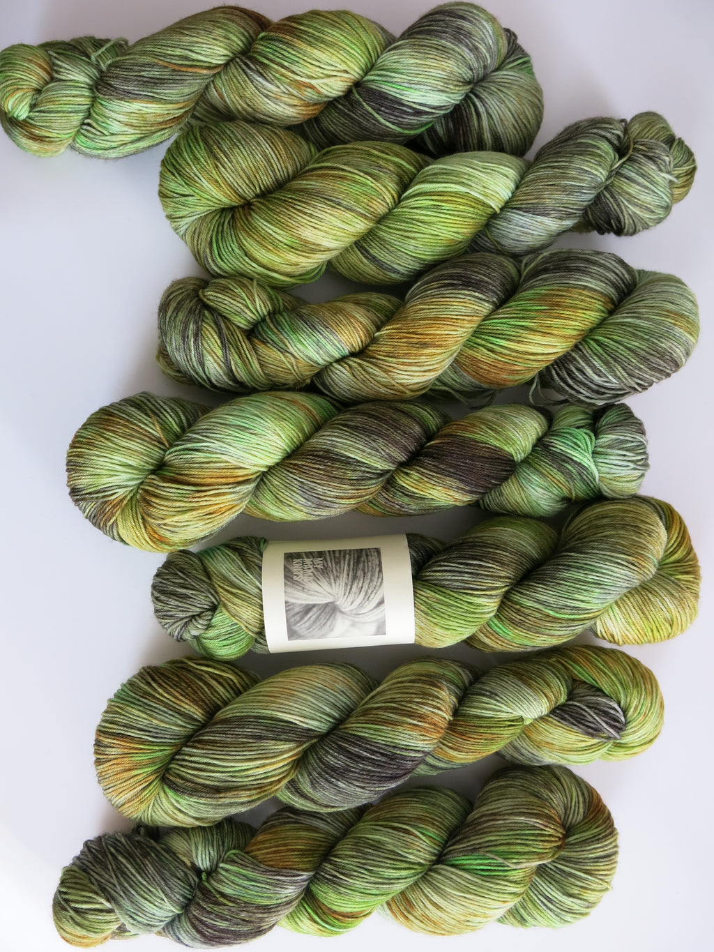 indie dyed 100g merino and nylon sock yarn skeins
