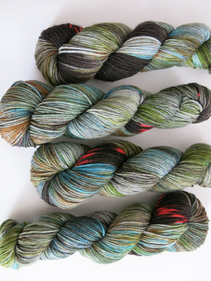 indie dyed merino and nylon yarn for knitting and crochet