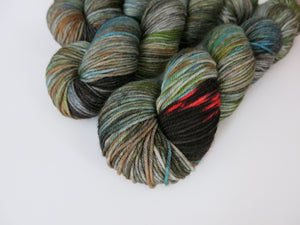 hand dyed scottish themed kelpie dk sock yarn