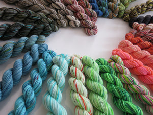 hand dyed 25 mini skein 20g set for the adventurer wrap