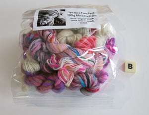 pink and white yarn creativity pack for weaving and kids craft
