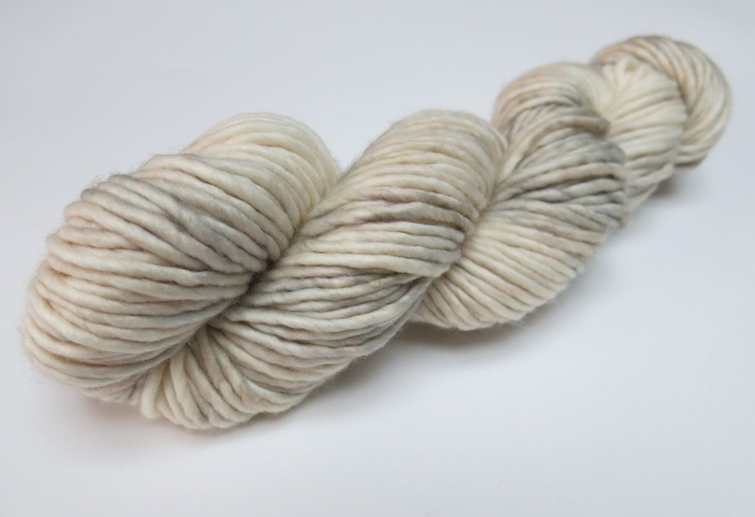 indie dyed yarn in white and grey singles super chunk