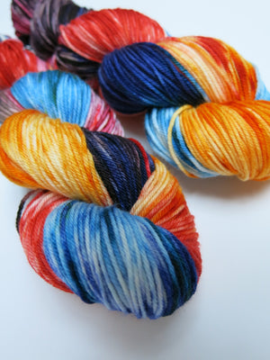 indie dyed dk merino with nylon for sock knitting