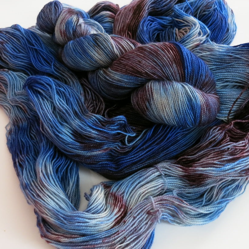unique indie dyed yarn skeins for socks and shawls