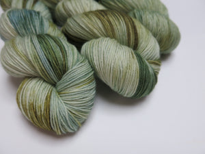 indie dyed merino sock yarn with nylon for knitting and crochet