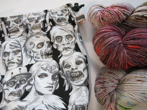 undead walkers project tote bag for crafters
