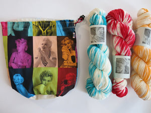 hollywood themed marilyn monroe cotton bag for projects