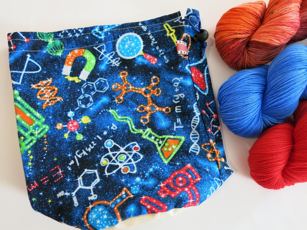 unique space themed project bag for crafters and school supplies