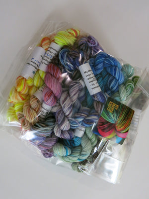 5g sock yarn mini skeins for knitting socks and squares