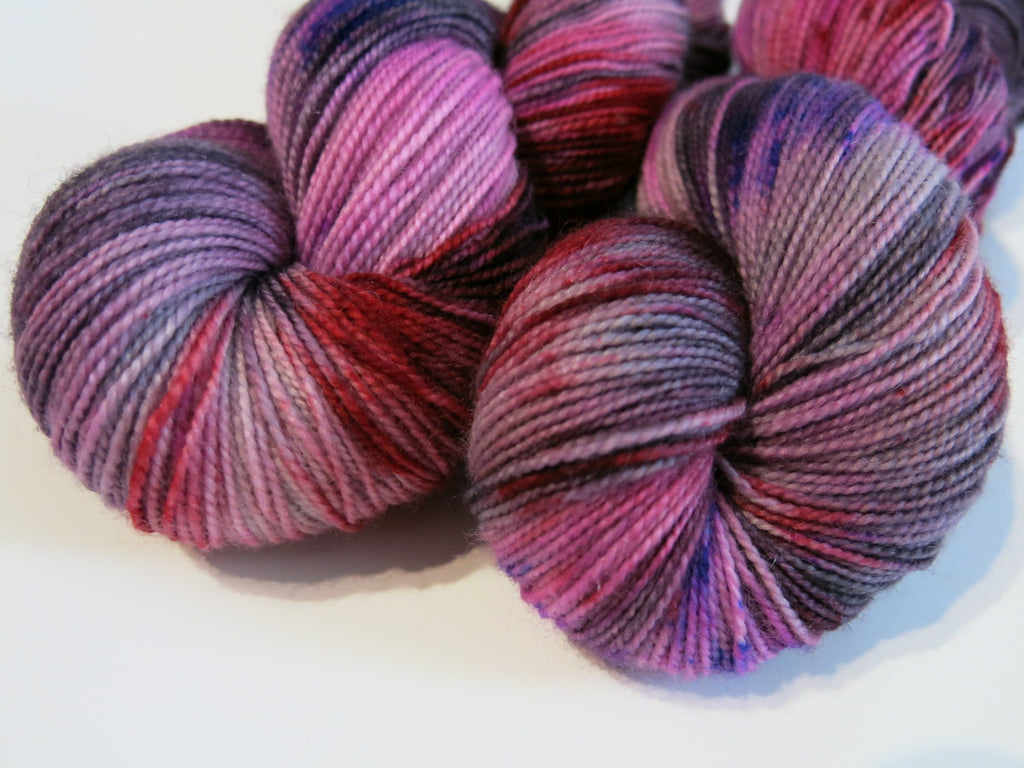 indie dyed british sock yarn for knitting and crochet