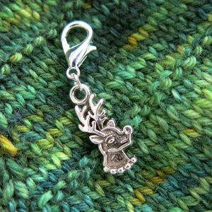 rudolph reindeer stitch marker for christmas knitting and crochet