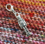nutcracker charm for bracelets, zippers and crochet projects