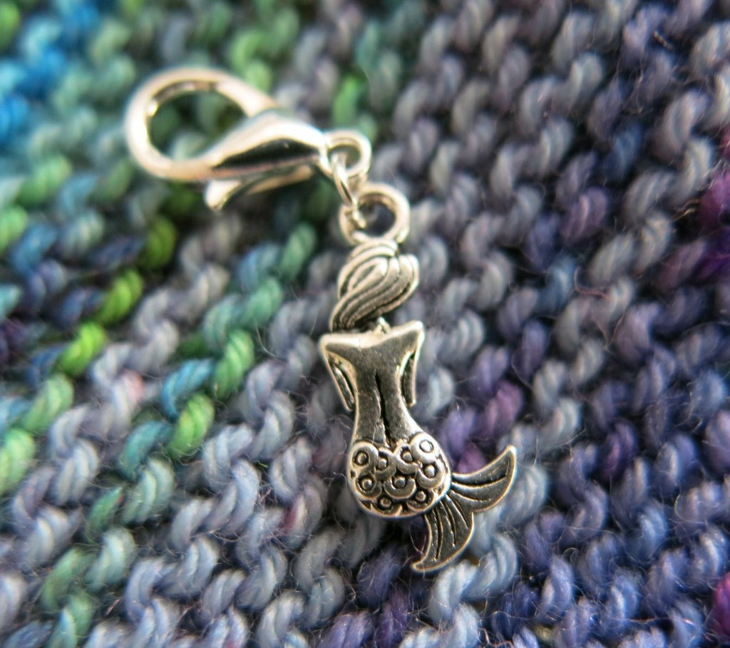 mermaid charm stitch marker for knitting or crochet