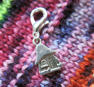 gnome or fairy house charm for bracelets, crochet and zipper pulls