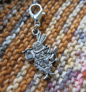 alice in wonderland hanging charm with a clasp