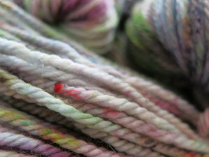 chunky aran speckled superwash merino yarn skeins