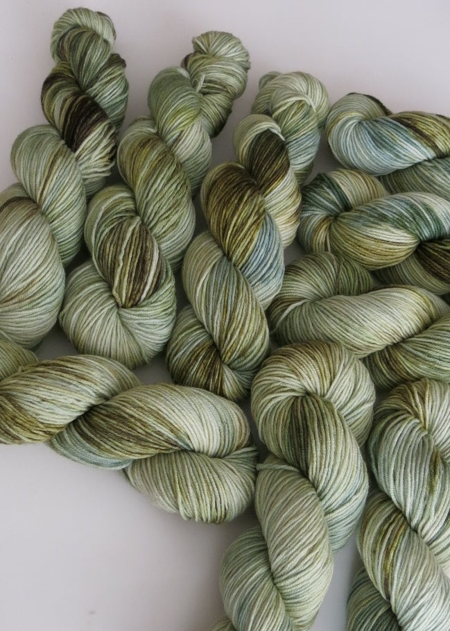 light green and blue merino wool for crafts like weaving and knitting