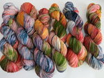 indie dyed speckled superwash merino yarn inspired by hunter s thompson