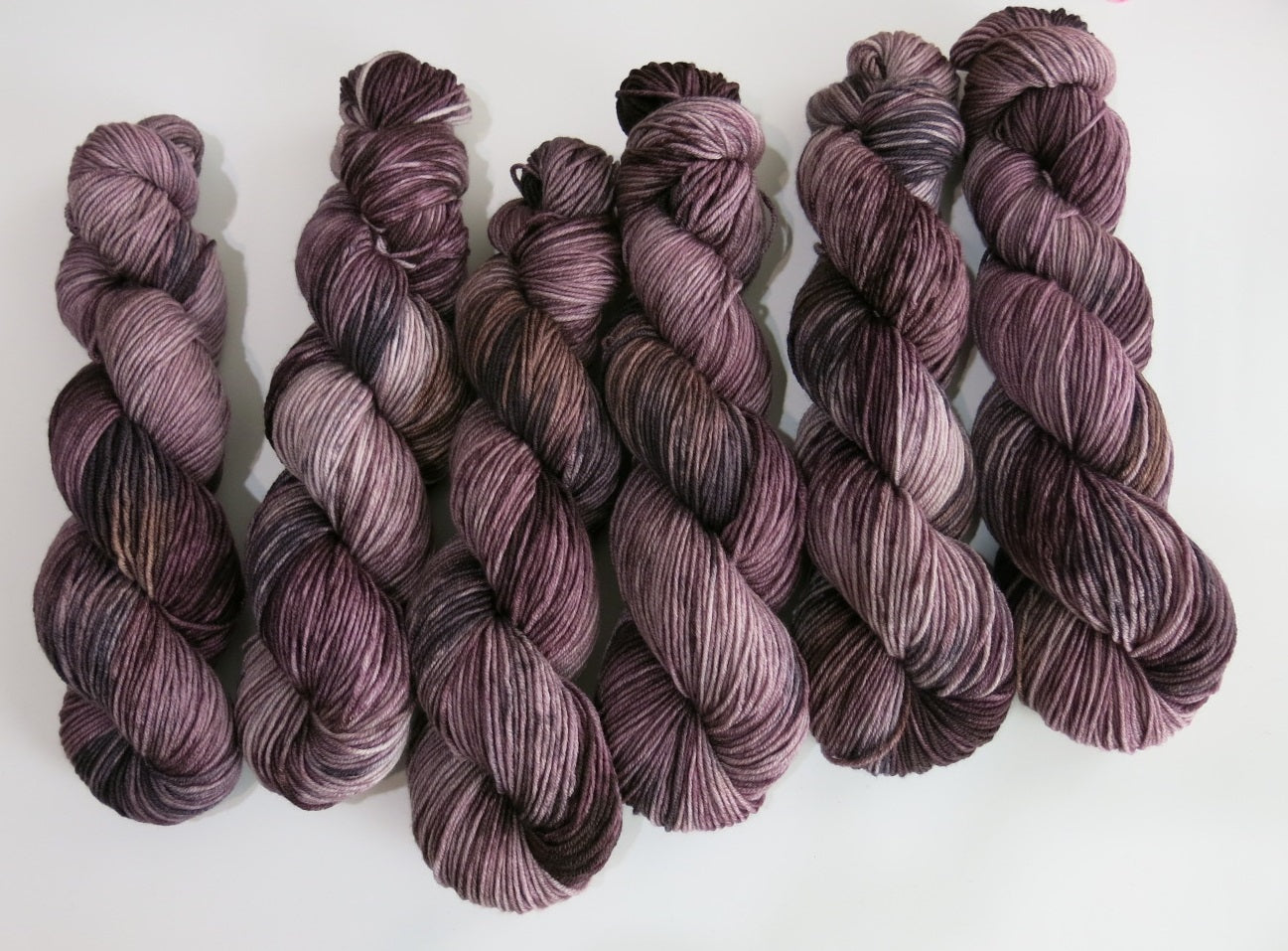 speckled dark brown kettle dyed wool for knitting and crochet