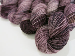 indie dyed chocolate brown 8ply yarn skeins for weaving and knitting