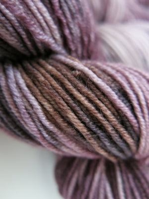 superwash merino dk yarn skein is tonal brown