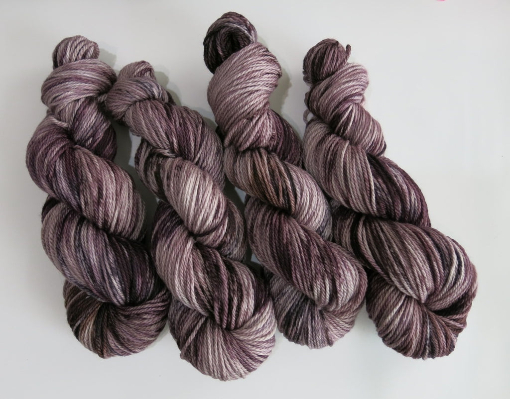dark brown tonal kettle dyed yarn by my mama knits