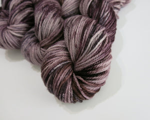 indie dyed aran merino yarn skeins in chocolate brown