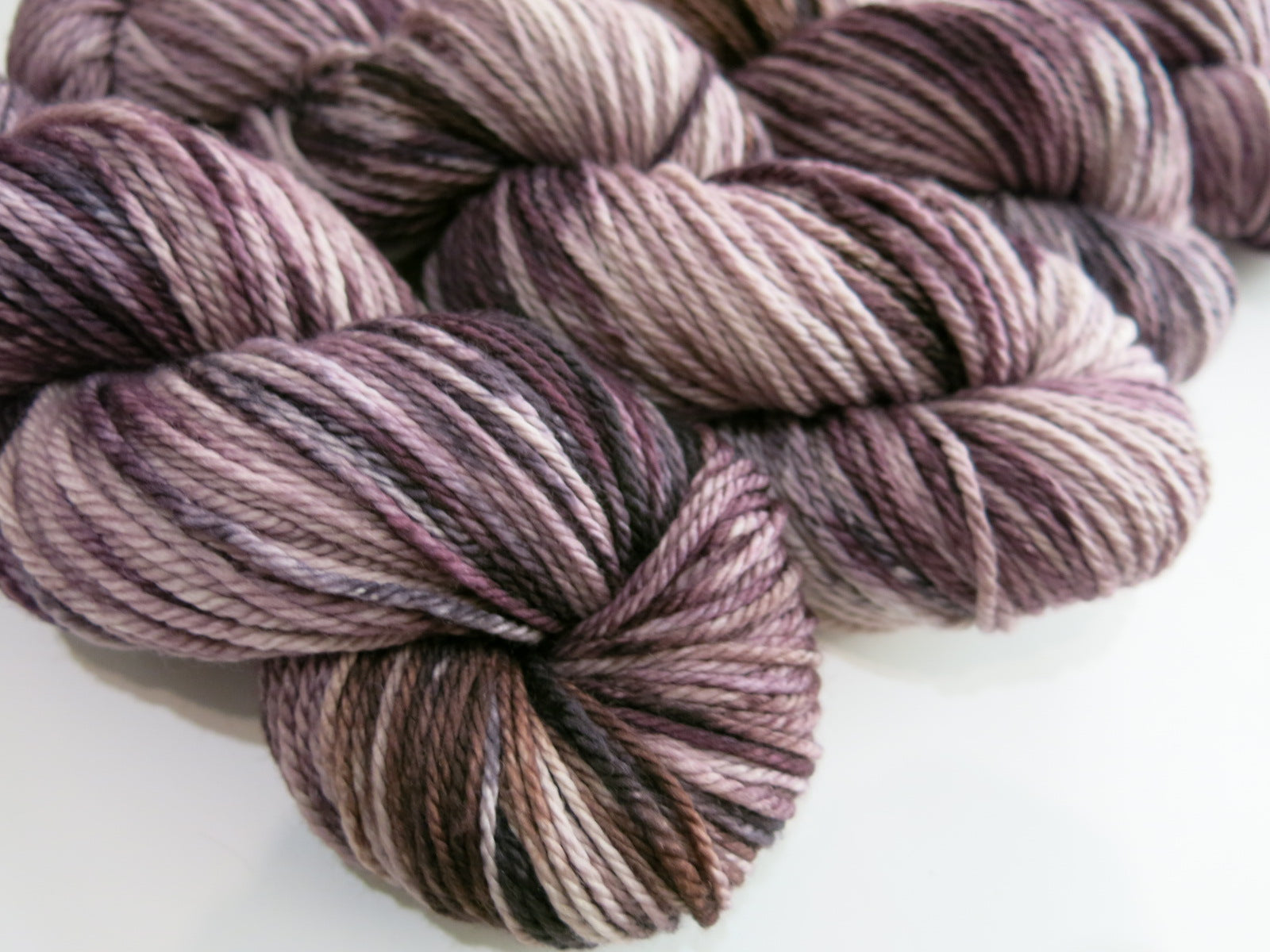 hand dyed chunky aran wool for knitting, weaving and crochet