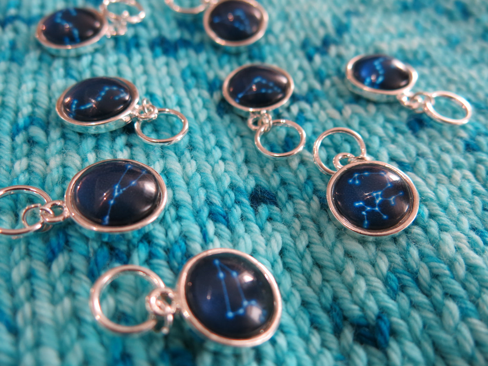 star gazing constellation stitch markers for knitting