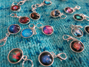 outerspace star nebula progress keepers for knitting swaps and projects