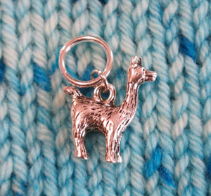 3d llama snagless stitch marker for knitting and crafts