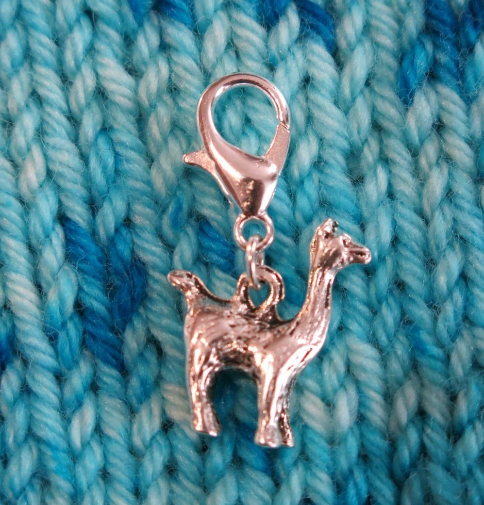 3d llama hanging charm for bracelets, bags and crochet
