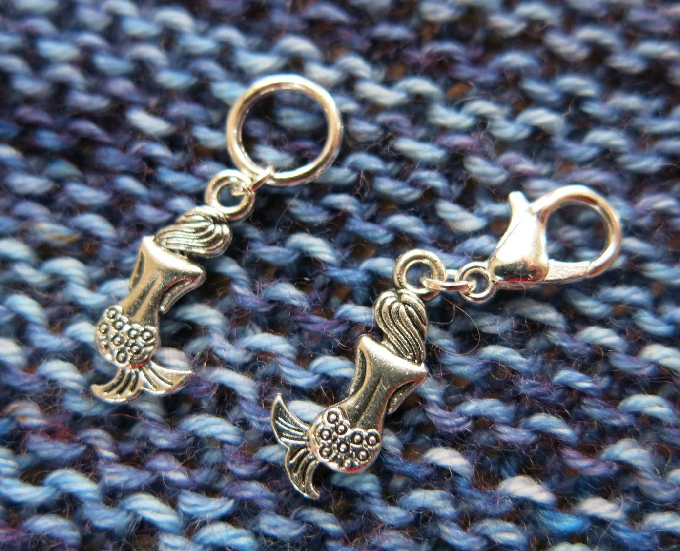 mermaid siren progress keeper stitch markers for knitting and crochet